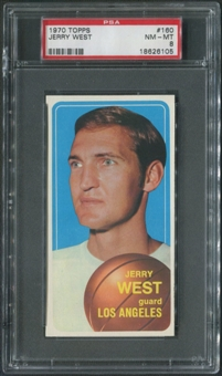 1970/71 Topps Basketball #160 Jerry West PSA 8 (NM-MT)