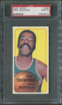 1970/71 Topps Basketball #162 Fred Crawford PSA 9 (MINT)