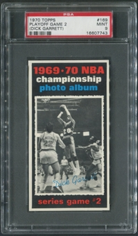 1970/71 Topps Basketball #169 Playoff Game 2 Dick Garnett PSA 9 (MINT)