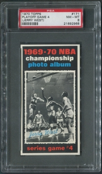 1970/71 Topps Basketball #171 Playoff Game 4 Jerry West PSA 8 (NM-MT)