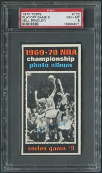 1970/71 Topps Basketball #172 Playoff Game 5 Bill Bradley PSA 8 (NM-MT)