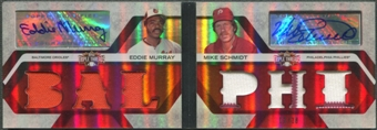 2008 Topps Triple Threads #4 Eddie Murray & Mike Schmidt Jersey Auto #12/18