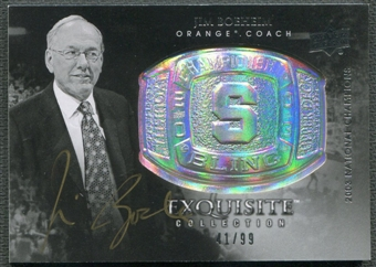 2011/12 Exquisite Collection #CBJB Jim Boeheim Championship Bling Auto #41/99
