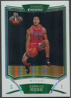 2008/09 Bowman Chrome #111 Derrick Rose Rookie Refractor #028/499