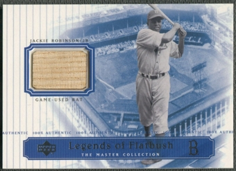 2000 Upper Deck Brooklyn Dodgers Master Collection #LOF2 Jackie Robinson Legends of Flatbush Bat #195/250