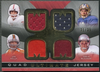 2013 Ultimate Collection #UJ4EMKB John Elway Dan Marino Jim Kelly Drew Bledsoe Ultimate Quad Jersey #31/35