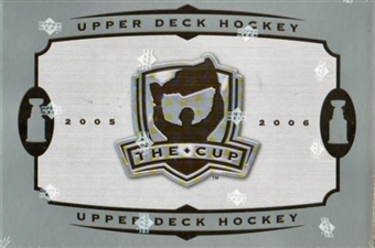 2005/06 Upper Deck The Cup Hockey Hobby Box (Tin) (Slightly Torn Shrink Wrap)