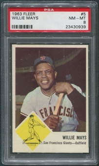 1963 Fleer Baseball #5 Willie Mays PSA 8 (NM-MT)