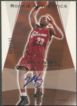 2003/04 SP Authentic #148 LeBron James Rookie Auto #385/500