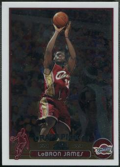 2003/04 Topps Chrome #111 LeBron James Rookie