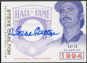 2014 Panini National Treasures #43 Steve Carlton HOF Logo Signatures Auto #04/10
