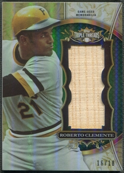 2013 Topps Triple Threads #RCL Roberto Clemente Unity Relics Emerald Bat #16/18
