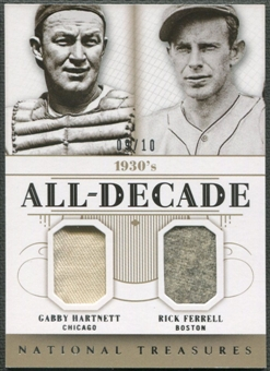 2014 Panini National Treasures #7 Gabby Hartnett & Rick Ferrel All Decade Jersey #09/10