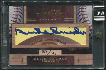 2011 Donruss Limited Cuts 4 #94 Duke Snider Auto #35/41