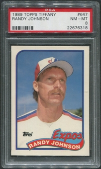 1989 Topps Tiffany Baseball #647 Randy Johnson Rookie PSA 8 (NM-MT)
