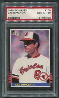 1985 Donruss Baseball #169 Cal Ripken Jr. PSA 10 (GEM MINT)