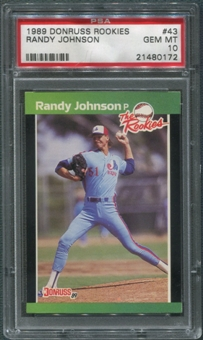 1989 Donruss Rookies Baseball #43 Randy Johnson Rookie PSA 10 (GEM MINT)