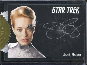 2015 Star Trek: Voyager Heroes & Villains Silver Signature Series Jeri Ryan as Seven of Nine