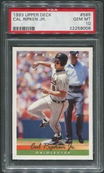 1993 Upper Deck Baseball #585 Cal Ripken Jr. PSA 10 (GEM MINT)