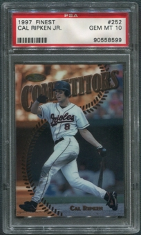 1997 Topps Finest Baseball #252 Cal Ripken Jr. PSA 10 (GEM MINT)
