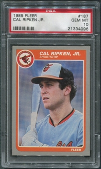 1985 Fleer Baseball #187 Cal Ripken Jr. PSA 10 (GEM MINT)