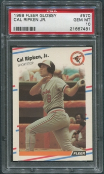 1988 Fleer Glossy Baseball #570 Cal Ripken Jr. PSA 10 (GEM MINT)