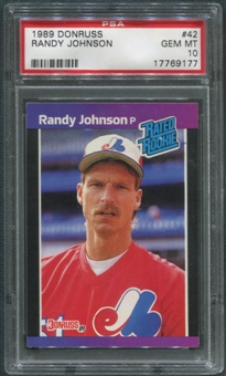 1989 Donruss Baseball #42 Randy Johnson Rookie PSA 10 (GEM MINT)