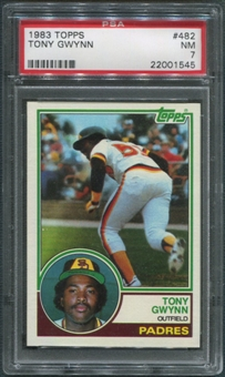 1983 Topps Baseball #482 Tony Gwynn Rookie PSA 7 (NM)