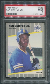 1989 Fleer Baseball #548 Ken Griffey Jr. Rookie PSA 9 (MINT)