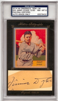 2014 Historic Autographs 1934-36 #42 Jimmy Dukes NM-MT 8 PSA Auto Grade Only *83579432*