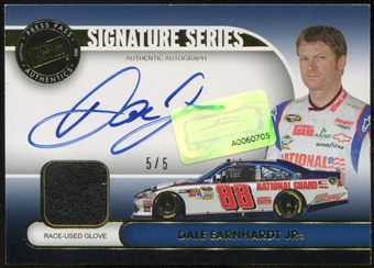 2013 Press Pass Signature Series Gold #DEJ Dale Earnhardt Jr. Autograph Glove 5/5