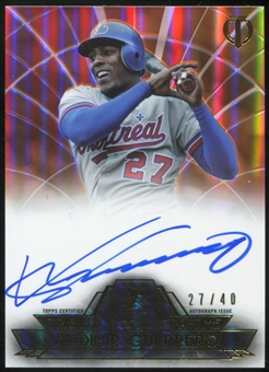 2014 Topps Tribute Tribute to the Pastime Autographs Orange #TPTVG Vladimir Guerrero 27/40