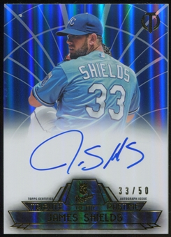 2014 Topps Tribute Tribute to the Pastime Autographs Blue #TPTJSH James Shields 33/50