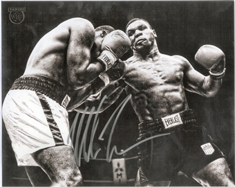 Mike Tyson Autographed 8x10 Ring Photo From Panini VIP Party (Panini Authentic)