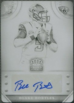 2014 Crown Royale #86 Blake Bortles Rookie Black Printing Plate Auto #1/1