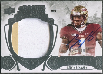 2014 Exquisite Collection #122 Kelvin Benjamin Rookie Patch Auto #060/110