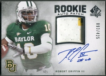 2012 SP Authentic #274 Robert Griffin III Rookie Patch Auto #093/425
