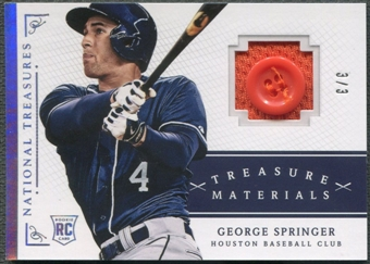 2014 Panini National Treasures #21 George Springer Treasure Materials Button #3/3