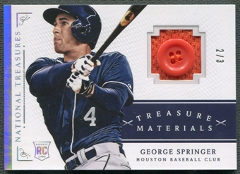 2014 Panini National Treasures #21 George Springer Treasure Materials Button #2/3