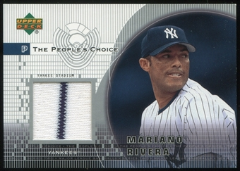 2002 Upper Deck Peoples Choice Game Jersey #PJMRI Mariano Rivera Pinstripe!