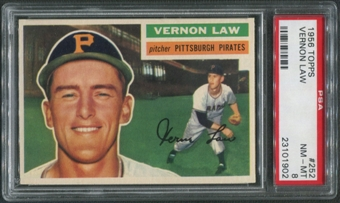 1956 Topps Baseball #252 Vernon Law PSA 8 (NM-MT)