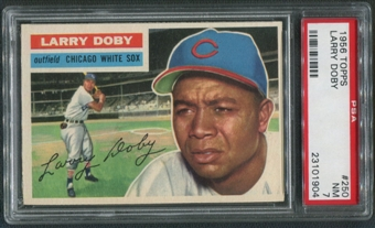 1956 Topps Baseball #250 Larry Doby PSA 7 (NM)