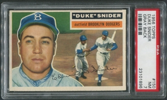 1956 Topps Baseball #150 Duke Snider Gray Back PSA 7 (NM)