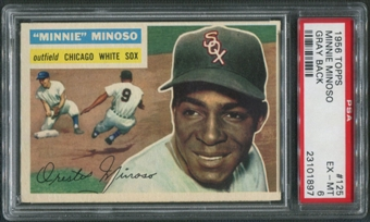 1956 Topps Baseball #125 Minnie Minoso Gray Back PSA 6 (EX-MT)