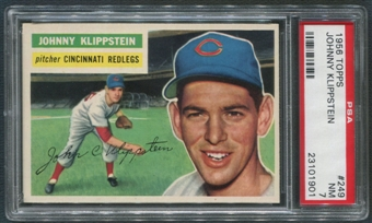 1956 Topps Baseball #249 Johnny Klippstein PSA 7 (NM)