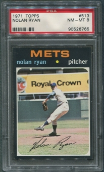 1971 Topps Baseball #513 Nolan Ryan PSA 8 (NM-MT)