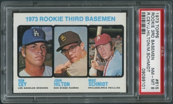 1973 Topps Baseball #615 Rookie Third Basemen Mike Schmidt Rookie PSA 8 (NM-MT)