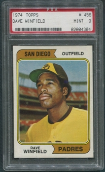 1974 Topps Baseball #456 Dave Winfield Rookie PSA 9 (MINT)