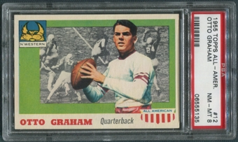 1955 Topps All American Football #12 Otto Graham PSA 8 (NM-MT)