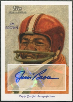 2009 Topps National Chicle #NCAJB Jim Brown Auto